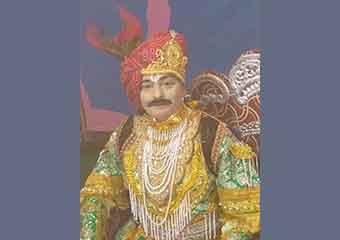 रामलीला मे धनुषयज्ञ मे राजा
